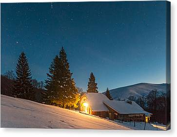 Mountain Hut Canvas Print by Evgeni Dinev