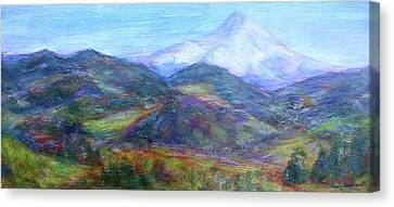 Mountain Patchwork Canvas Print