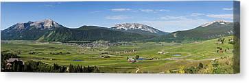 Mountain Range, Crested Butte, Gunnison Canvas Print