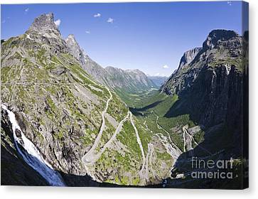 Mountain Road, Norway Canvas Print by Dr Juerg Alean