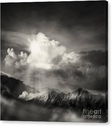 Mountain View Canvas Print by Setsiri Silapasuwanchai