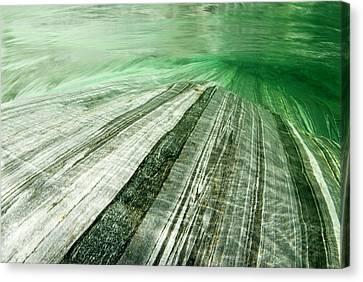 Mountainriver In Lavertezzo, Tessin Canvas Print by Gerard Lacz - Vwpics