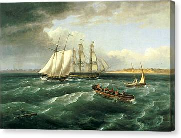 Mouth Of The Delaware Canvas Print by Thomas Birch
