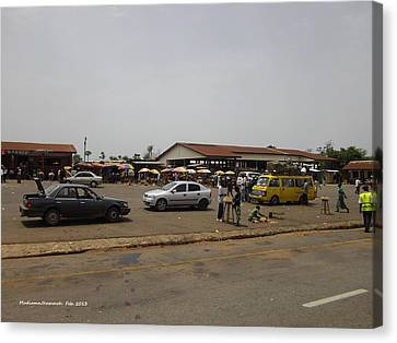 Canvas Print featuring the photograph Moyamba Junction-markets by Mudiama Kammoh