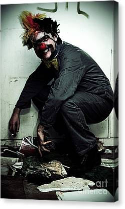 Mr Squatter The Unemployed Clown Canvas Print