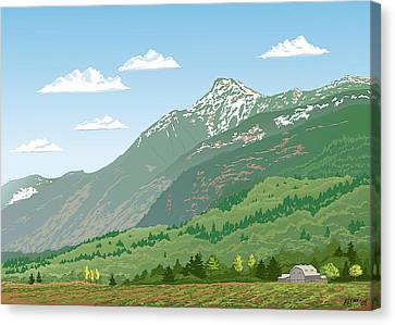 Mt Cheam In Spring Canvas Print by Artellus Artworks