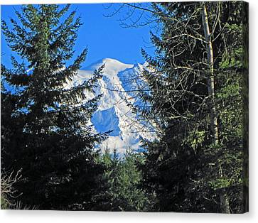 Canvas Print featuring the photograph Mt. Rainier I by Tikvah's Hope