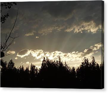 Mt Sunset Canvas Print by Yvette Pichette