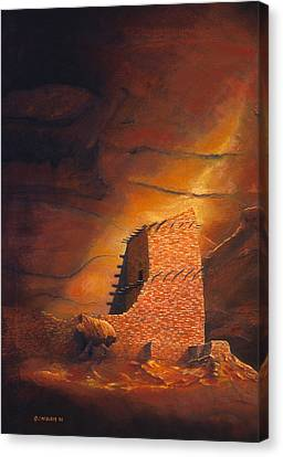 Ruins Canvas Print - Mummy Cave Ruins by Jerry McElroy