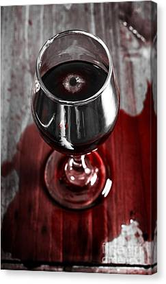 Wine Scene Canvas Print - Murder Mystery Investigation. Private Eye Clues by Jorgo Photography - Wall Art Gallery
