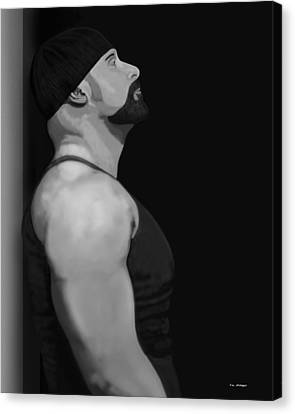 Muscle Shirt Canvas Print by Tim Stringer