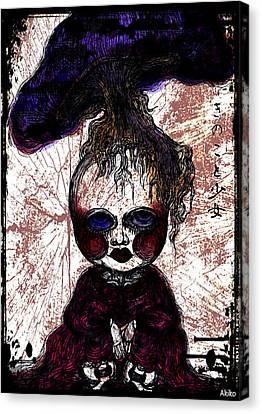 Mushroom Girl Canvas Print by Akiko Okabe
