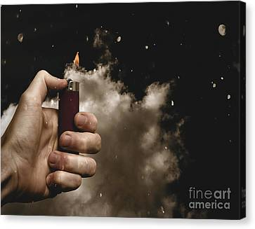 Music Festival Person Holding Lighter At Concert Canvas Print by Jorgo Photography - Wall Art Gallery