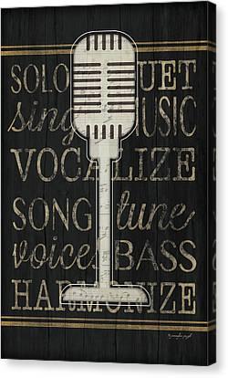 Music Microphone Canvas Print