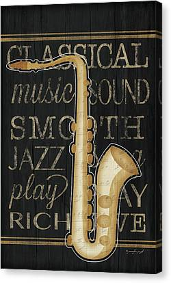 Music Saxophone Canvas Print by Jennifer Pugh