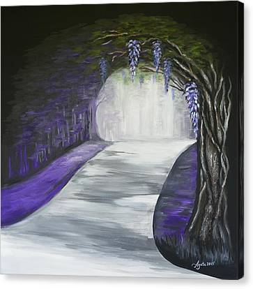 Mysterious Wisteria Canvas Print