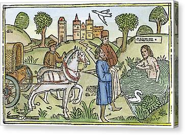 Naaman Bathing Canvas Print by Granger
