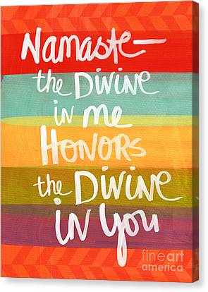 Namaste  Canvas Print by Linda Woods