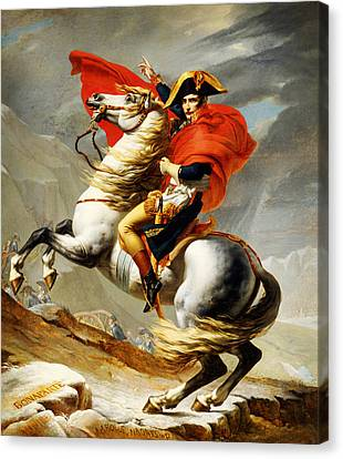 Napoleon Crossing The Alps Canvas Print by Celestial Images