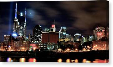 Nashville Panoramic View Canvas Print by Frozen in Time Fine Art Photography