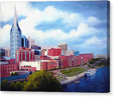 Nashville Skyline Canvas Print by Janet King
