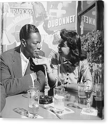 Nat King Cole And His Wife Maria 1954 Canvas Print by The Harrington Collection