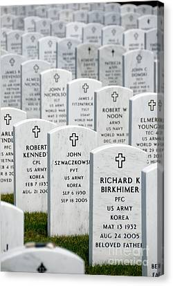 National Cemetery Of The Alleghenies Canvas Print by Amy Cicconi