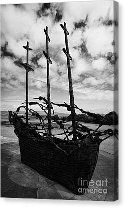 National Famine Memorial Clew Bay Mayo Ireland  Canvas Print by Joe Fox
