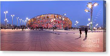 National Stadium Panorama Beijing China Canvas Print by Colin and Linda McKie