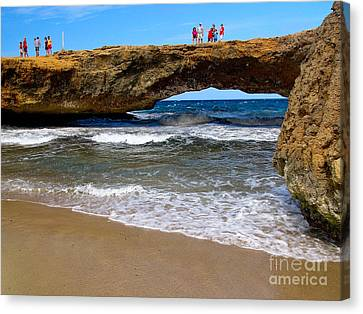 Natural Bridge Aruba Canvas Print