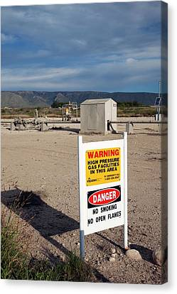 Natural Gas Pipeline Canvas Print by Jim West
