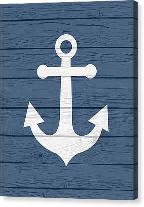 Nautical Anchor Canvas Print by Tamara Robinson
