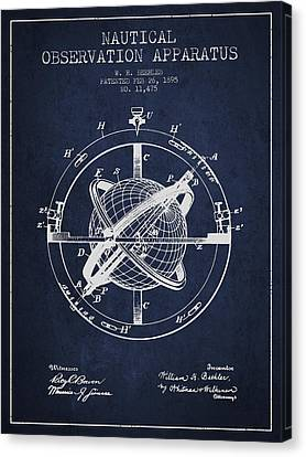 Nautical Observation Apparatus Patent From 1895 - Green Canvas Print by Aged Pixel