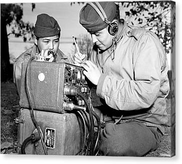 Navajo Code Talkers Canvas Print by Us Navy