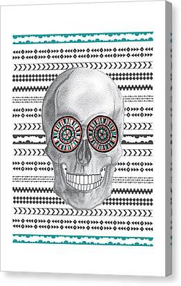 Navajo Skull Canvas Print by Susan Claire