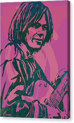 Neil Young Pop Artsketch Portrait Poster Canvas Print by Kim Wang