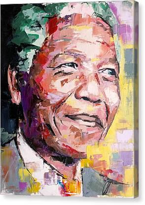 Nelson Mandela Canvas Print by Richard Day