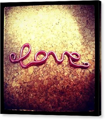 Neon Pink Love Canvas Print