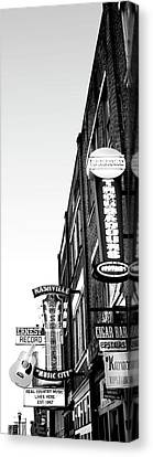 Neon Signs At Dusk, Nashville Canvas Print