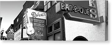 Neon Signs On Building, Nashville Canvas Print