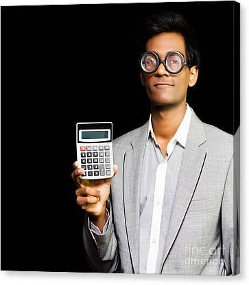 Nerdy Asian Accountant Or Maths Genius Canvas Print