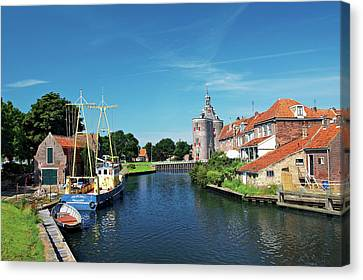Red Roof Canvas Print - Netherlands, Enkhuizen, Classic Dutch by Miva Stock