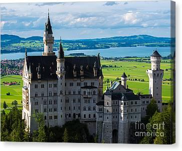 Neuschwanstein Castle - Bavaria - Germany Canvas Print by Gary Whitton