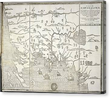 New England Canvas Print by British Library