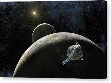 New Horizons At Pluto Canvas Print by Take 27 Ltd