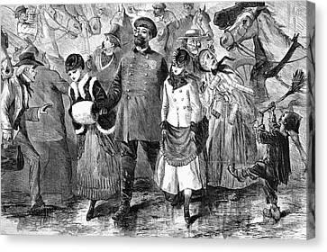 Policeman Canvas Print - New York Broadway, 1870 by Granger
