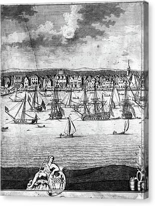 New York City, 1717 Canvas Print by Granger