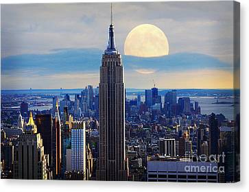 Us Capital Canvas Print - New York City by Celestial Images