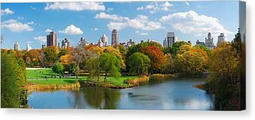 New York City Manhattan Central Park Panorama Canvas Print