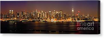 New York City Skyline Canvas Print by Anthony Sacco